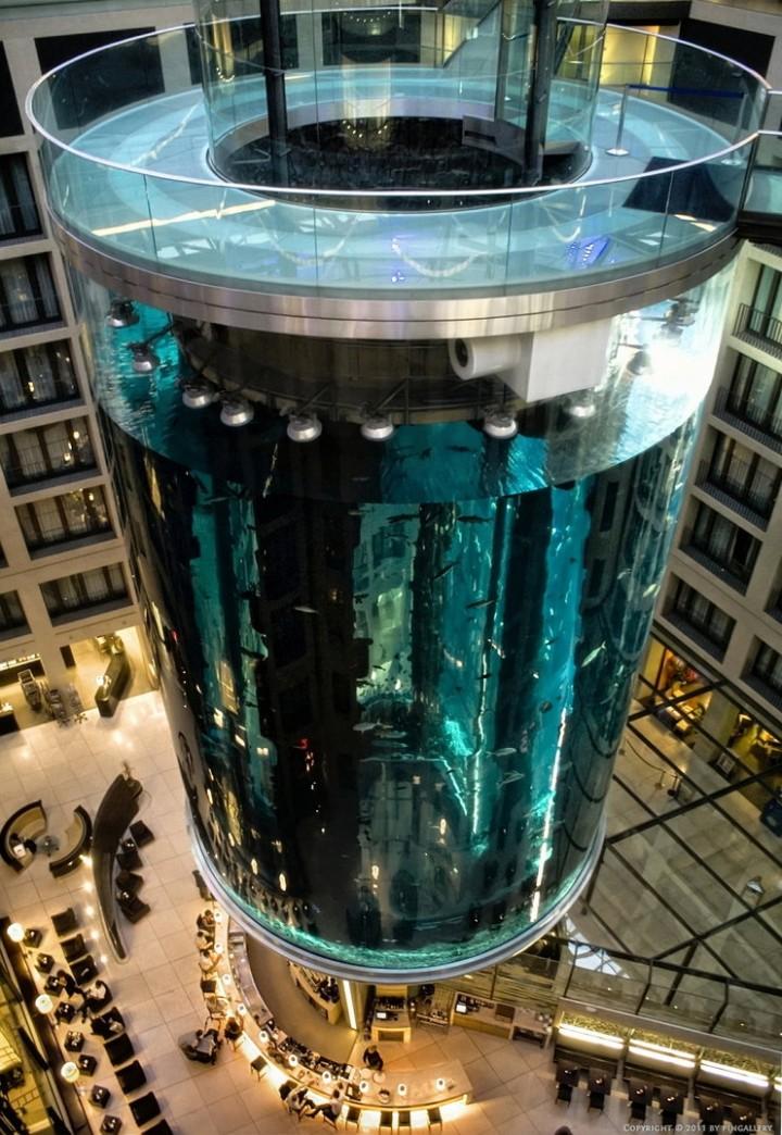 """Самый большой аквариум в отеле """"Radisson Blu"""", Германия (9)"""