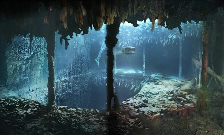 "Фотографии затонувшего ""Титаника"", фото на дне, до и после (1)"