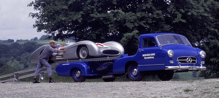 история уникального Mercedes-Benz Renntransporter (1)