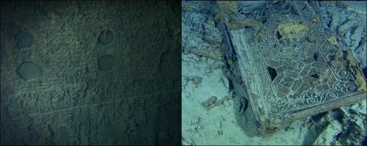 "Фотографии затонувшего ""Титаника"", фото на дне, до и после (2)"