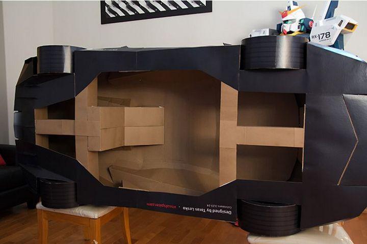 Как склеить модель автомобиля из бумаги в натуральную величину (2)