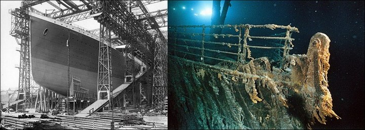 "Фотографии затонувшего ""Титаника"", фото на дне, до и после (7)"