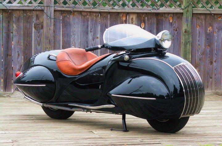 "Красивый винтажный мотоцикл ""Henderson 1930"", необычный дизайн ретро мотоцикла (1)"