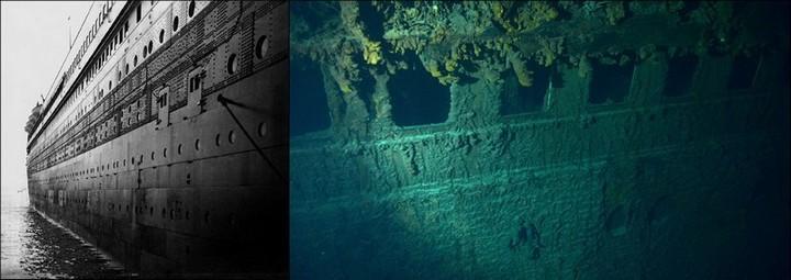 "Фотографии затонувшего ""Титаника"", фото на дне, до и после (8)"