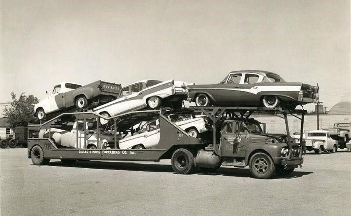 Фото старых американских грузовиков 9