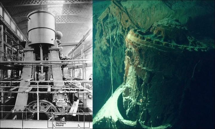 "Фотографии затонувшего ""Титаника"", фото на дне, до и после (11)"