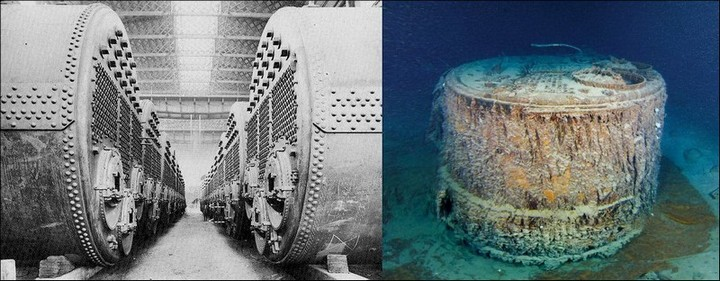 "Фотографии затонувшего ""Титаника"", фото на дне, до и после (14)"