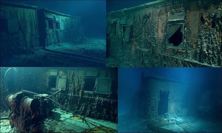"Фотографии затонувшего ""Титаника"", фото на дне, до и после (27)"