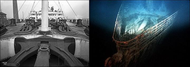 "Фотографии затонувшего ""Титаника"", фото на дне, до и после (31)"