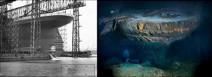 "Фотографии затонувшего ""Титаника"", фото на дне, до и после (37)"
