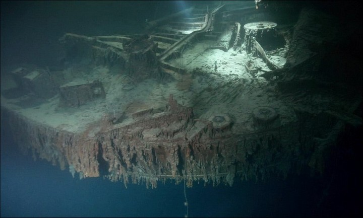 "Фотографии затонувшего ""Титаника"", фото на дне, до и после (38)"