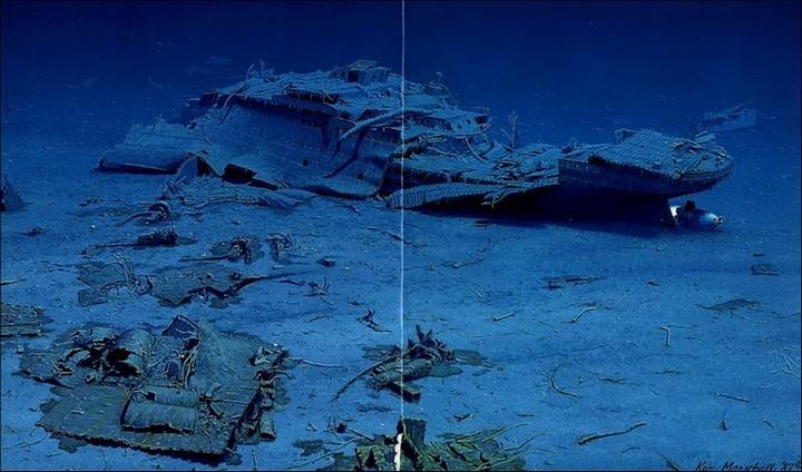 "Фотографии затонувшего ""Титаника"", фото на дне, до и после (41)"