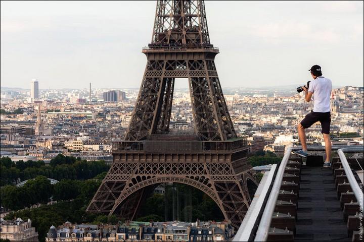 Руферы, как залезть на высокое здание в Европе (48)