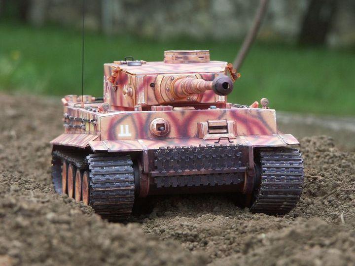 """Бумажная модель танка """"Тигр"""" PzKpfw VI Tiger (1)"""
