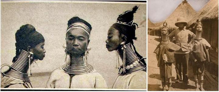 Девушки с длинными шеями из племени Падаунгов в Лондоне (7)