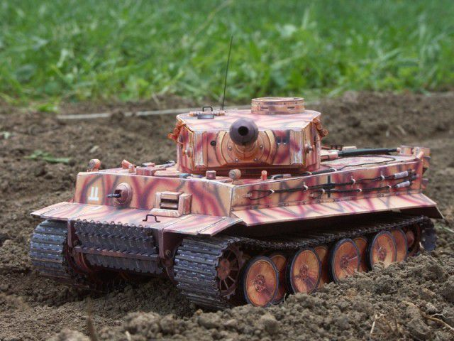"""Бумажная модель танка """"Тигр"""" PzKpfw VI Tiger (3)"""