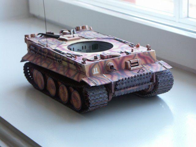 """Бумажная модель танка """"Тигр"""" PzKpfw VI Tiger (38)"""