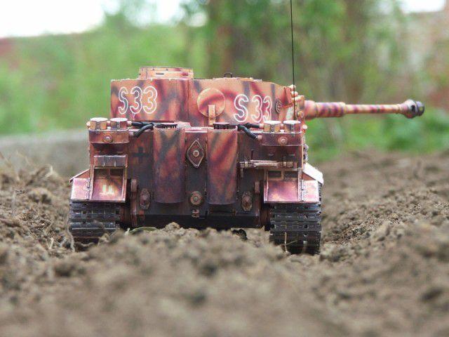 """Бумажная модель танка """"Тигр"""" PzKpfw VI Tiger (4)"""