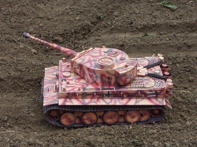 """Бумажная модель танка """"Тигр"""" PzKpfw VI Tiger (6)"""