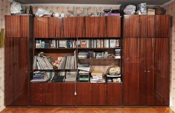 Старые советские стенки. Мебель стенка в СССР (3)
