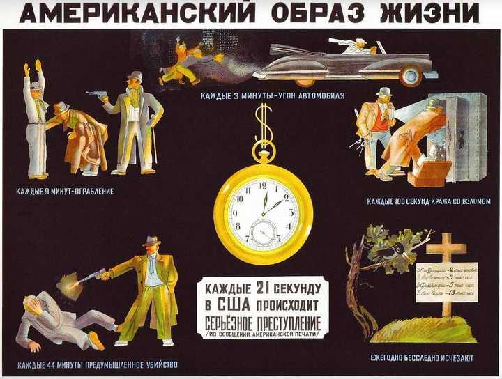 Антиамериканские плакаты времен СССР (24)