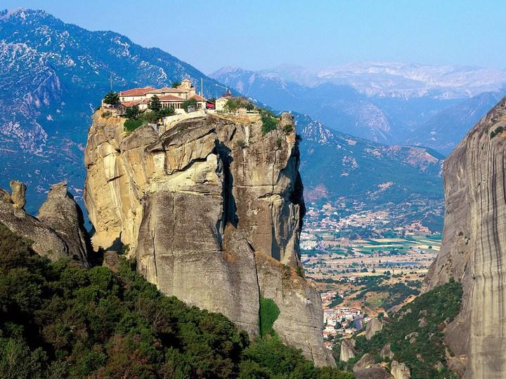 Старые монастыри в Греции Метеоры (1)