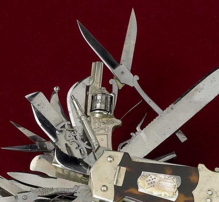 Уникальный многофункциональный нож 1880 года, Джон С. Хеллер (2)