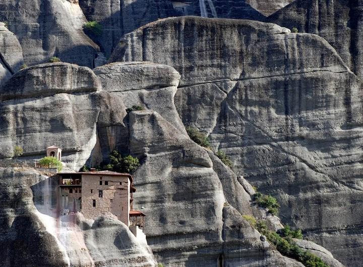 Старые монастыри в Греции Метеоры (8)