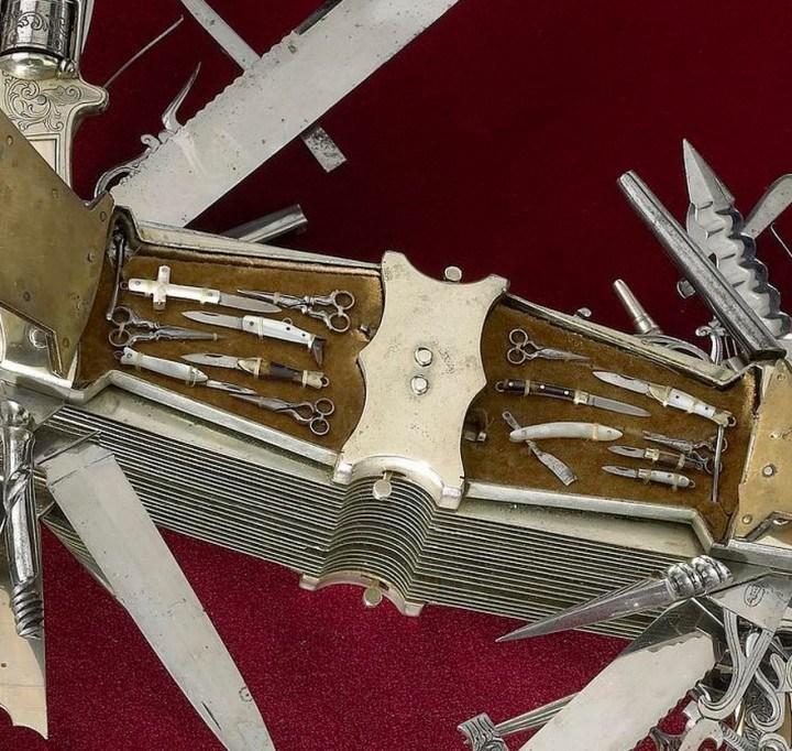 Уникальный многофункциональный нож 1880 года, Джон С. Хеллер (7)