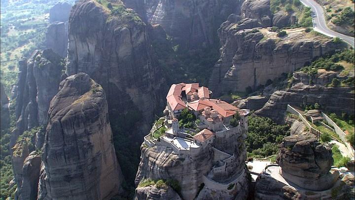 Старые монастыри в Греции Метеоры (6)
