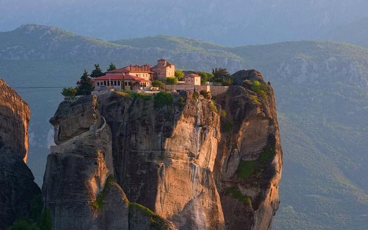 Старые монастыри в Греции Метеоры (4)