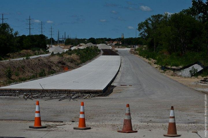 Процесс укладки дорожного покрытия в Америке (13)