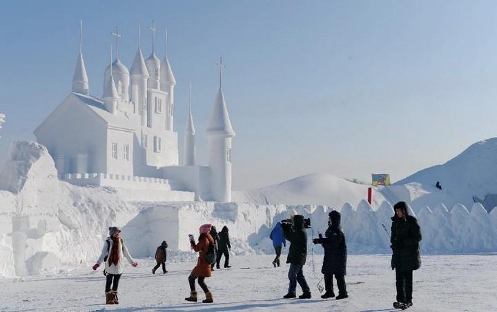 Удивительные снежные скульптуры (2)
