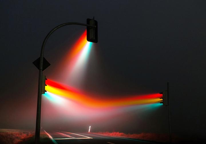 Красивые ночные снимки света от светофора (1)