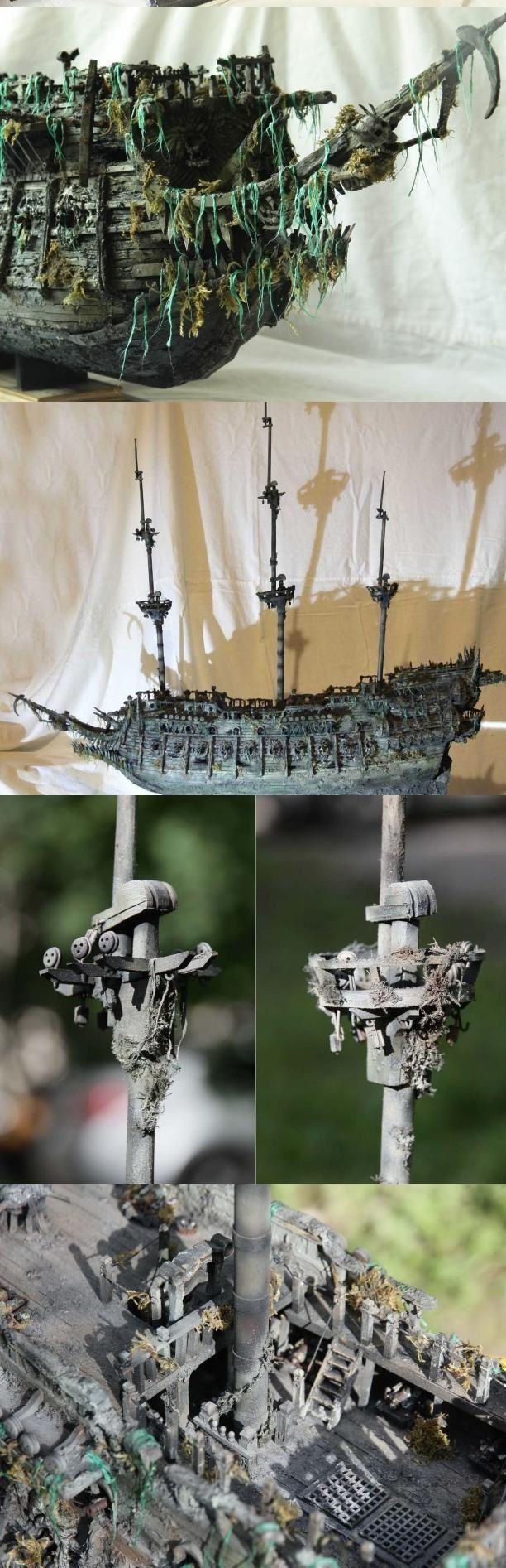 """Модель легендарного корабля """"Летучий голландец"""" своими руками (11)"""