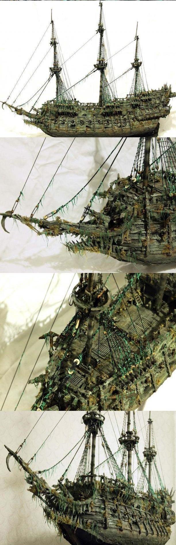 """Модель легендарного корабля """"Летучий голландец"""" своими руками (12)"""