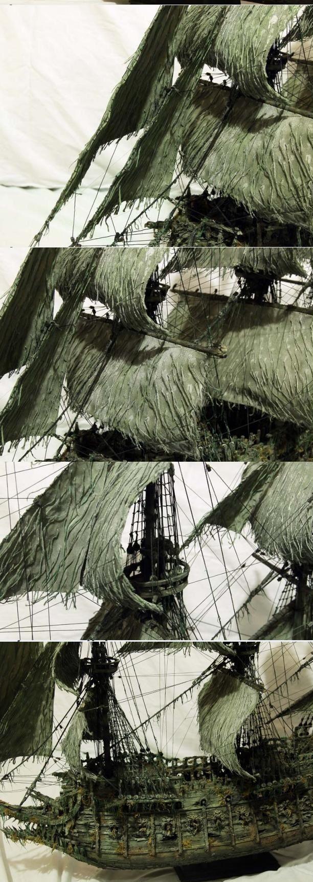 """Модель легендарного корабля """"Летучий голландец"""" своими руками (15)"""