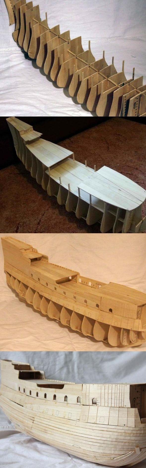 """Модель легендарного корабля """"Летучий голландец"""" своими руками (2)"""