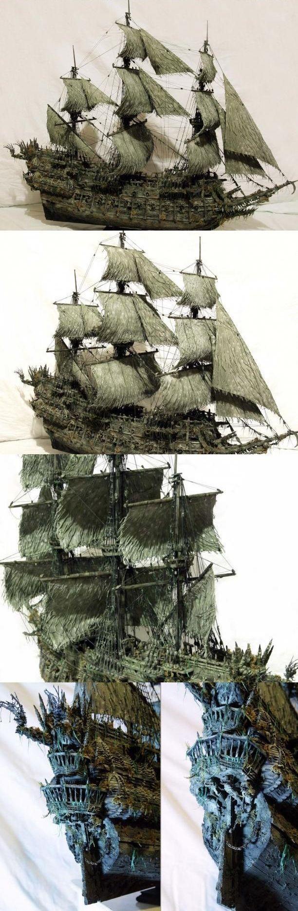 """Модель легендарного корабля """"Летучий голландец"""" своими руками (21)"""