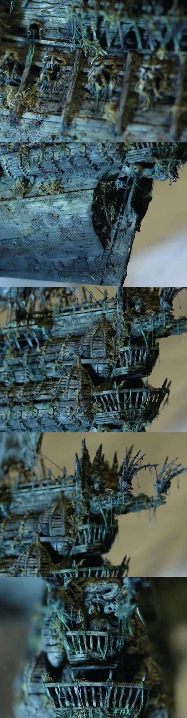 """Модель легендарного корабля """"Летучий голландец"""" своими руками (22)"""