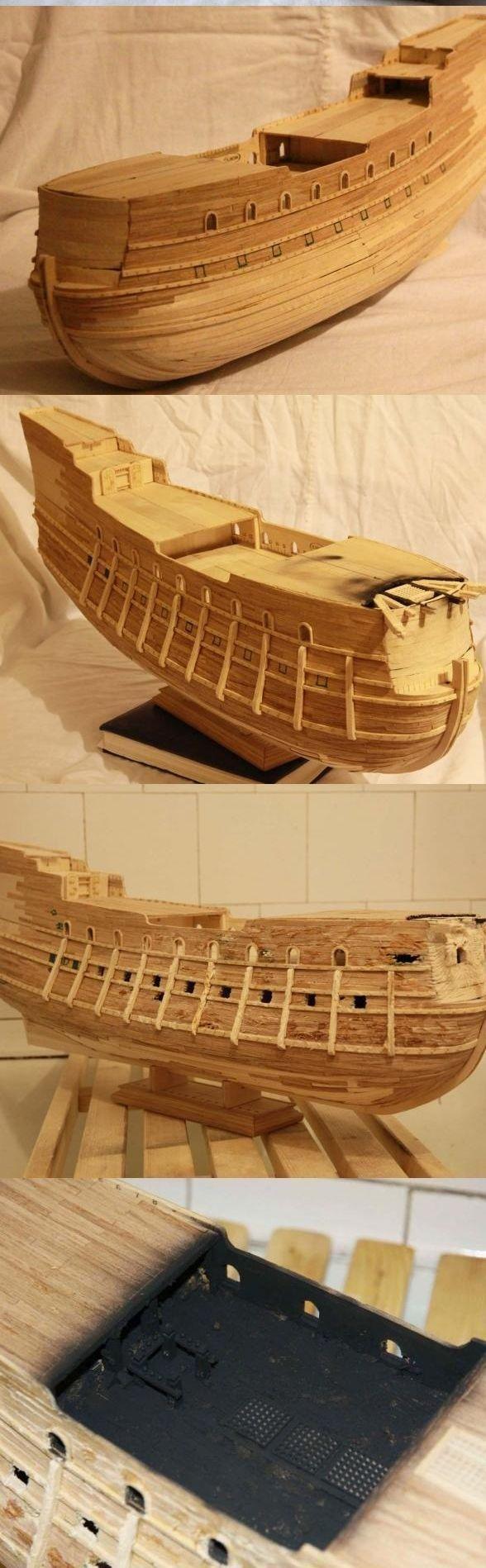 """Модель легендарного корабля """"Летучий голландец"""" своими руками (3)"""