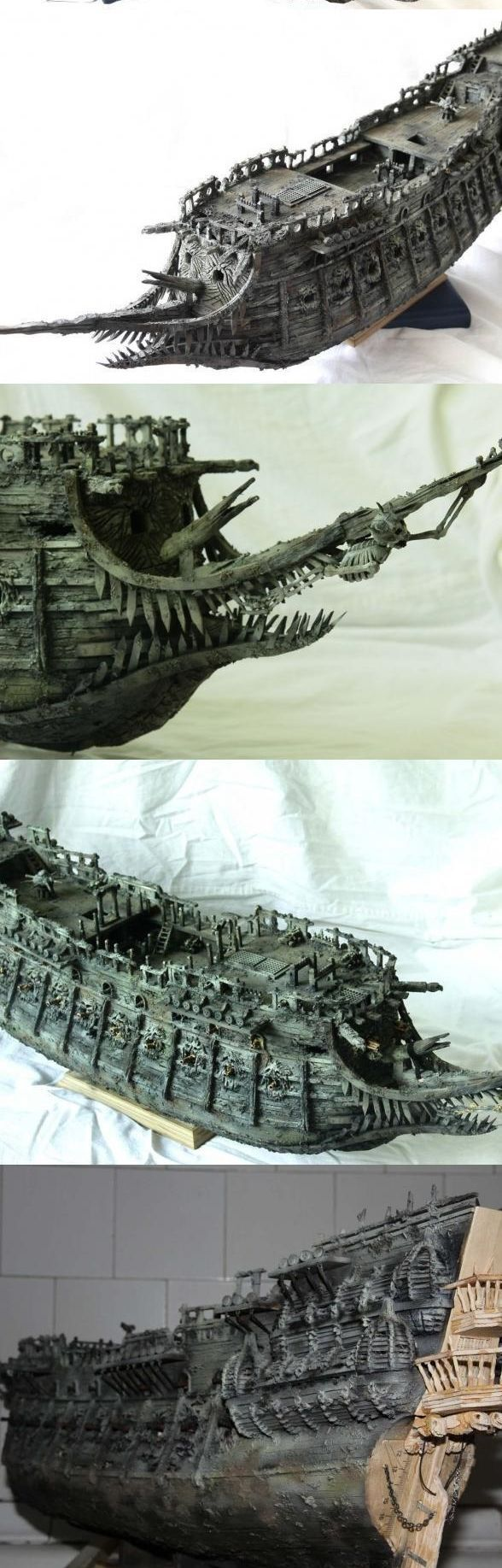 """Модель легендарного корабля """"Летучий голландец"""" своими руками (7)"""