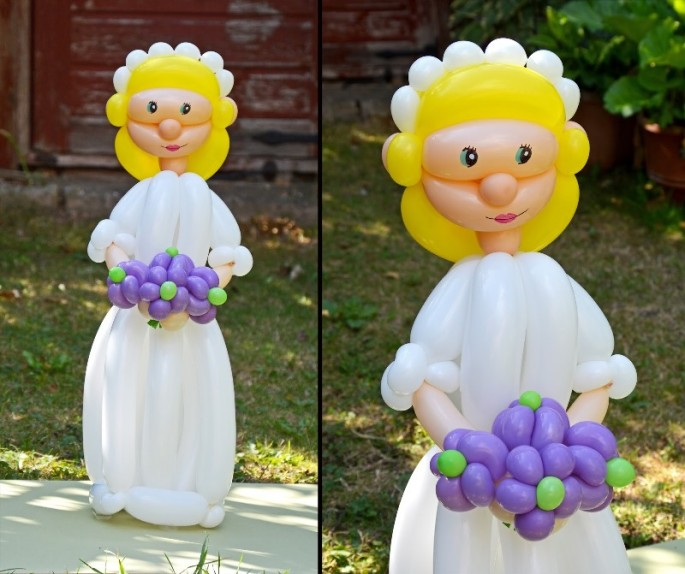 Красивые фигуры из длинных воздушных шаров. Примеры фигур из воздушных шаров (17)