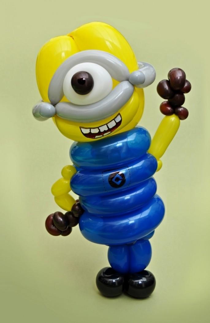 Красивые фигуры из длинных воздушных шаров. Примеры фигур из воздушных шаров (12)