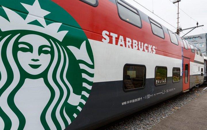 Первый поезд-кофейня Starbucks в Швейцарии (2)