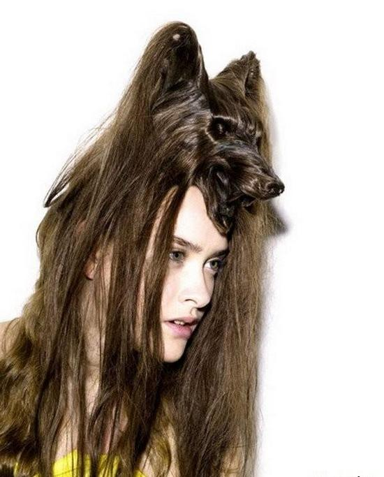 Самые необычные женские прически в форме животных (3)