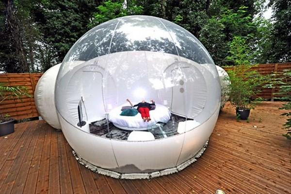 Прозрачный, надувной дом Bubble Tree (9)