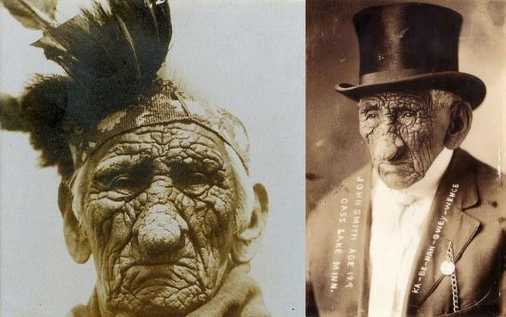 Индеец по имени Ка-Nah-Be-Owey Wence успел пожить в трёх столетиях: с 1791 по 1920 год