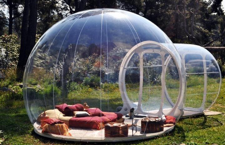 Прозрачный, надувной дом Bubble Tree (7)