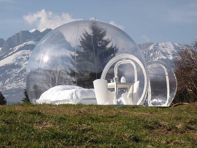 Прозрачный, надувной дом Bubble Tree (6)